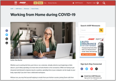 WFH During Covid - AARP